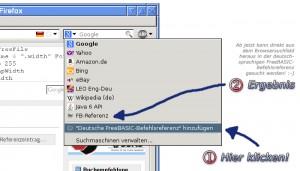 FreeBASIC OpenSearch im Firefox