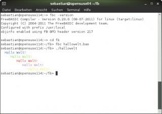 FB/Linux: Ein erster Test