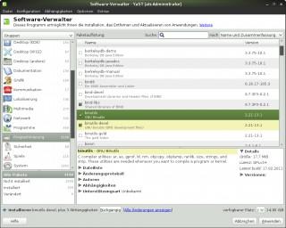 Installation mit Paketmanager-GUI