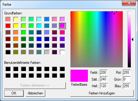 CommonDialog Farbauswahl