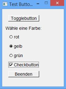 Verschiedene Buttons