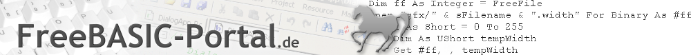 FreeBASIC-Portal.de - Die FreeBASIC-Ressource!